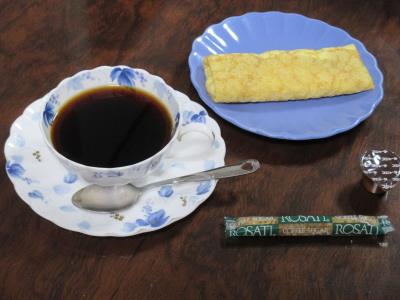 コーヒーとクレープ