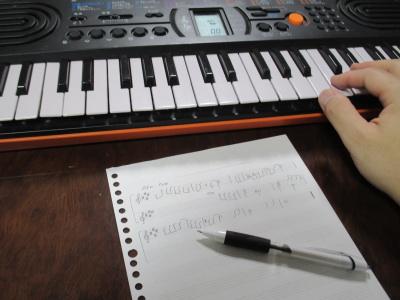 五線譜とキーボード