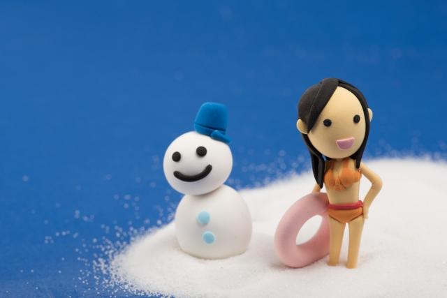夏と雪だるま