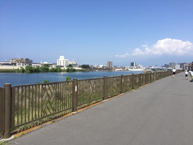 狩野川沿い